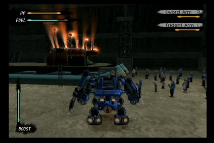 All the cool kids turn up to concerts in giant blue robots.