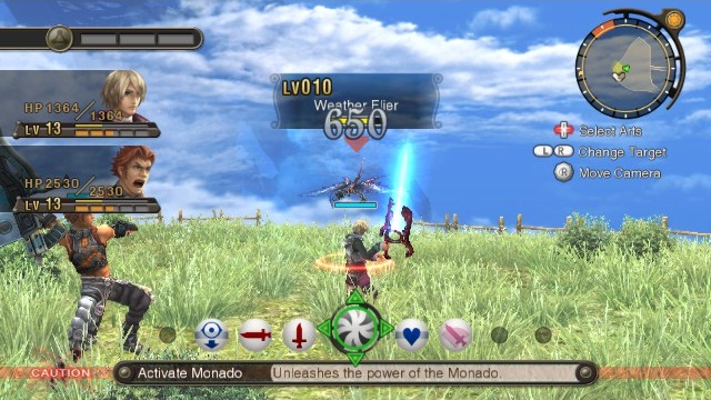 Xenoblade Chronicles (Wii) running at the original resolution..